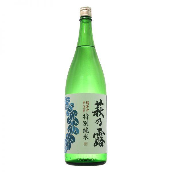 萩乃露 特別純米 超辛口 無濾過生  青ラベル 1,800ml